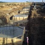 Строительство на начальной стадии
