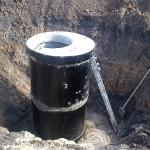 Строительство колодца для отвода воды от путей