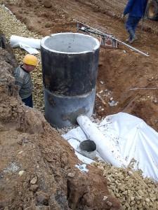 Строительство водоотводной канализации от верхнего строения пути с использованием геотекстильных фильтров Прокладка дренажных тр