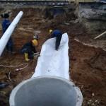 Начало строительства отвода воды от путей