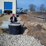 Строительство от вода от путей депо